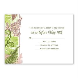 Botanical Beauty - Rose Gold - Foil Response Card
