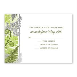 Botanical Beauty - Silver - Foil Response Card