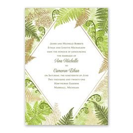 Botanical Beauty - Gold - Foil Invitation
