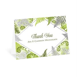 Botanical Beauty - Silver - Foil Thank You Card