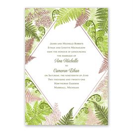 Botanical Beauty - Rose Gold - Foil Invitation
