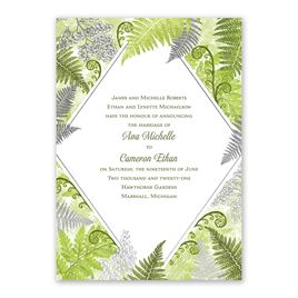 Botanical Beauty - Silver - Foil Invitation