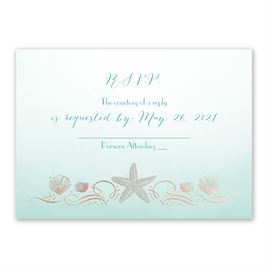 Shoreline - Rose Gold - Foil Response Card