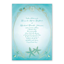 Shoreline - Gold - Foil Invitation