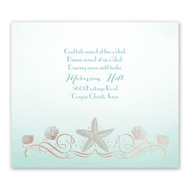 Shoreline - Rose Gold - Foil Information Card
