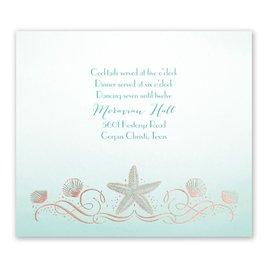 Shoreline - Rose Gold - Foil Information Card