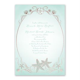 Shoreline - Rose Gold - Foil Invitation