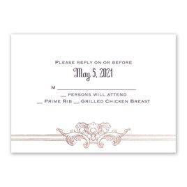 Wedding Response Cards: Yorkshire Romance Foil Response Card
