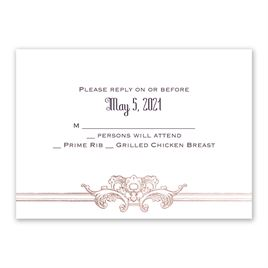 Yorkshire Romance - Rose Gold - Foil Response Card