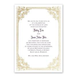Yorkshire Romance - Gold - Foil Invitation
