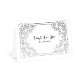 Yorkshire Romance - Silver - Foil Thank You Card