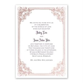 rose gold wedding invitations yorkshire romance foil invitation - Rose Gold Wedding Invitations