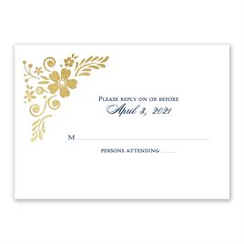 Brilliant Boho - Gold - Foil Response Card
