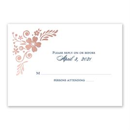 Brilliant Boho - Rose Gold - Foil Response Card