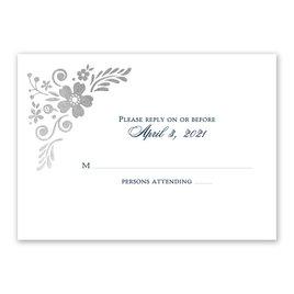 Brilliant Boho - Silver - Foil Response Card
