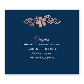 Brilliant Boho - Rose Gold - Foil Information Card