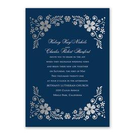 Brilliant Boho - Silver - Foil Invitation