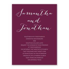 Cheap Wedding Invitations: Our Autograph Petite Invitation