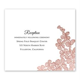 Rose Gold Blossoms - Information Card