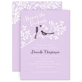 Bird Wedding Invitations: Shower The Lovebirds Bridal Shower Invitation