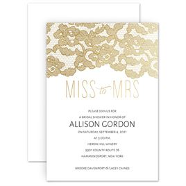 bridal shower invitations miss to mrs foil bridal shower invitation