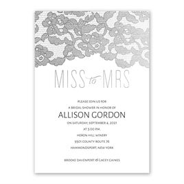 Miss to Mrs. - Silver Foil - Bridal Shower Invitation