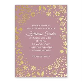 Boho Babe - Gold Foil - Bridal Shower Invitation