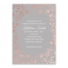 Boho Babe - Rose Gold Foil - Bridal Shower Invitation