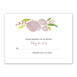 Garden Halo - Rose Gold Foil - Response Card