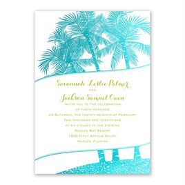 Malibu I Do - Aqua - Foil Invitation