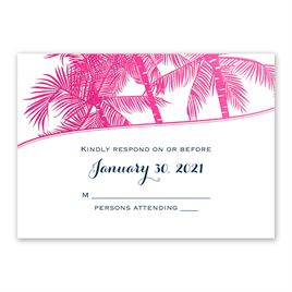 Malibu I Do - Fuchsia - Foil Response Card