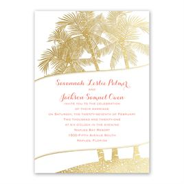 Malibu I Do - Gold - Foil Invitation