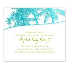 Malibu I Do - Aqua - Foil Information Card