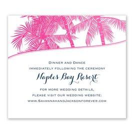 Malibu I Do - Fuchsia - Foil Information Card