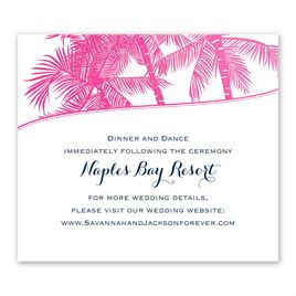 Malibu I Do - Fuchsia - Foil Information Card