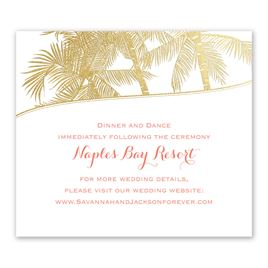 Malibu I Do - Gold - Foil Information Card