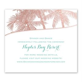 Malibu I Do - Rose Gold - Foil Information Card