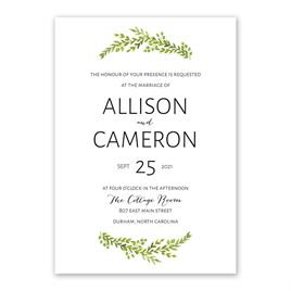 Watercolor Greenery Invitation
