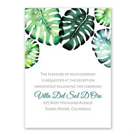 Brilliant Palms - Reception Card