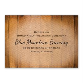 Wine Barrel - Reception Card