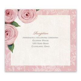 Wedding Reception Cards: Victorian Rose Information Card