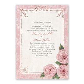 Victorian Rose - Rose Gold - Foil Invitation