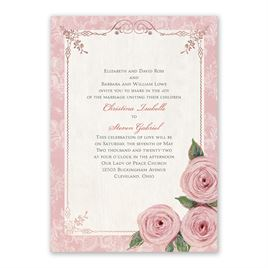Victorian Rose - Rose Gold - Foil Invitation