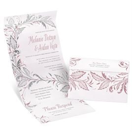 Swept Away - Silver -  Foil Seal and Send Invitation