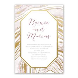 Modern Marble - Gold - Foil Invitation