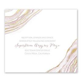 Modern Marble - Gold - Foil Information Card