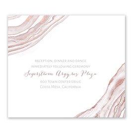 Modern Marble - Rose Gold - Foil Information Card