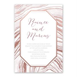 Modern Marble - Rose Gold - Foil Invitation