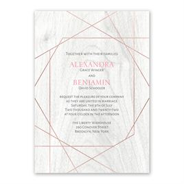 Naturally Modern - Rose Gold - Foil Invitation