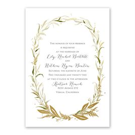 Woodland Halo Foil Invitation